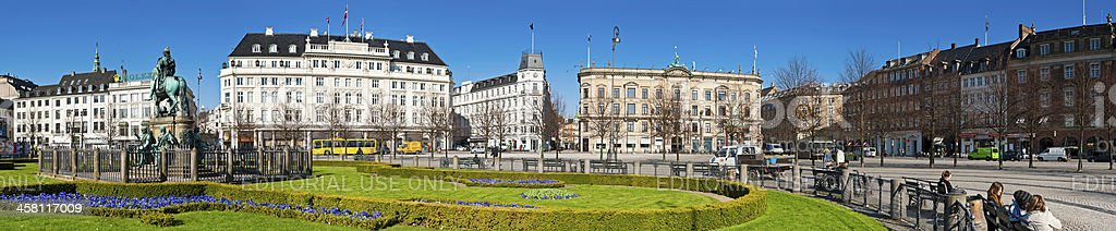 Copenhagen Kongens Nytorv square panorama Denmark royalty-free stock photo