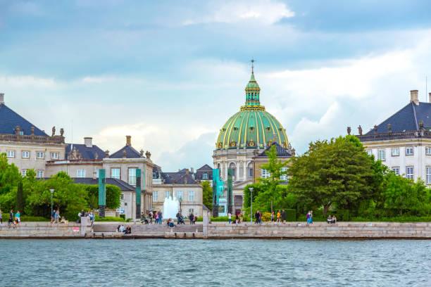 Kopenhagener Landschaft mit Frederiks Kirche – Foto