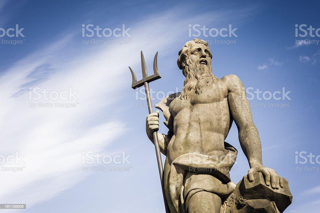 Copenhagen: Neptune statue stock photo