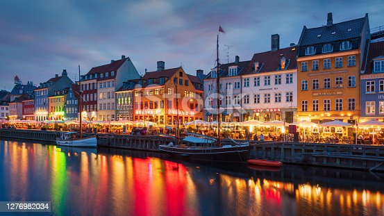 istock Copenhagen Nyhavn Nightlife Twilight Denmark 1276982034