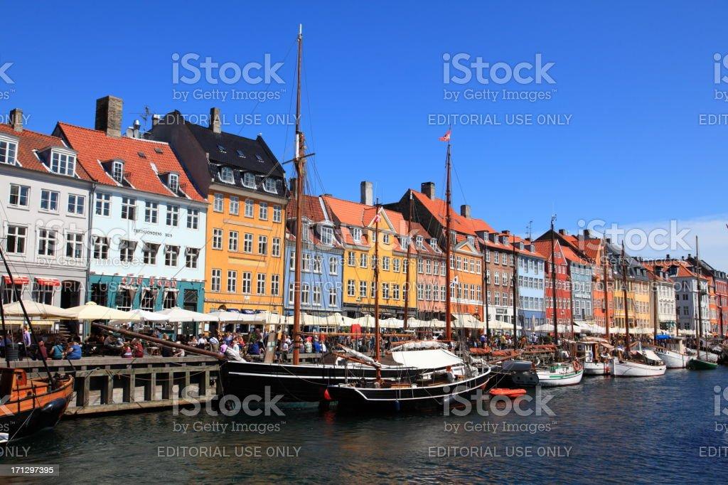 Copenhagen, Nyhavn royalty-free stock photo