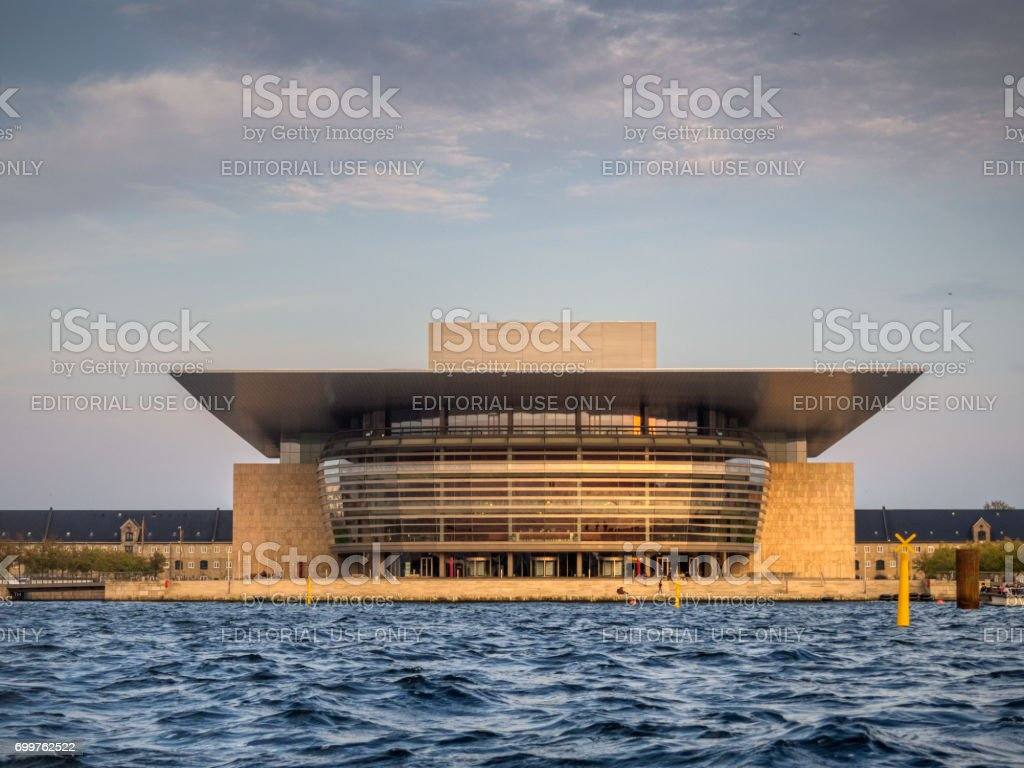 Copenhagen Opera House, this image is gps tagged. stock photo