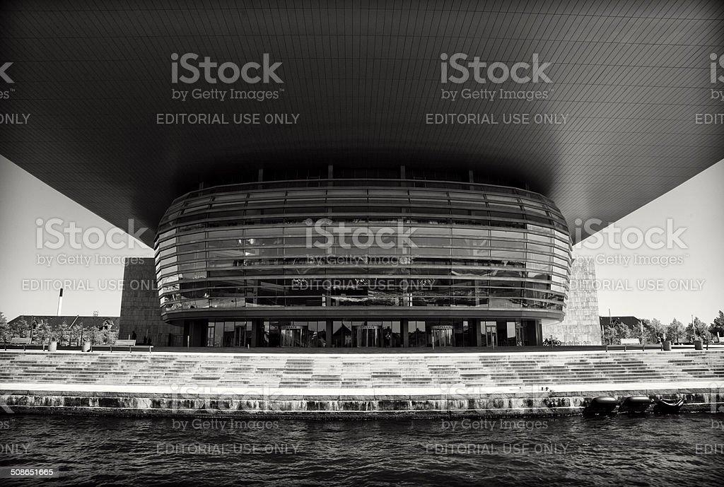 Copenhagen Opera House viewed from a boat stock photo