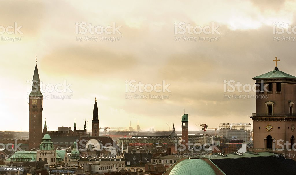 Copenhagen Roofs stock photo