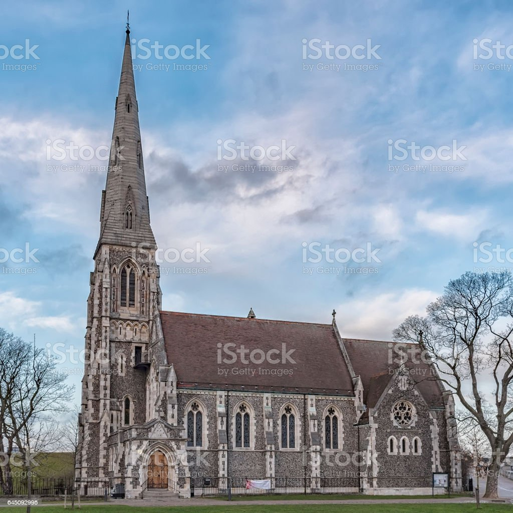 Copenhagen Saint Albans Church stock photo
