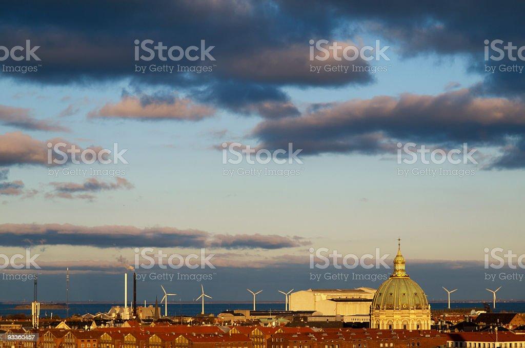Copenhagen skyline royalty-free stock photo