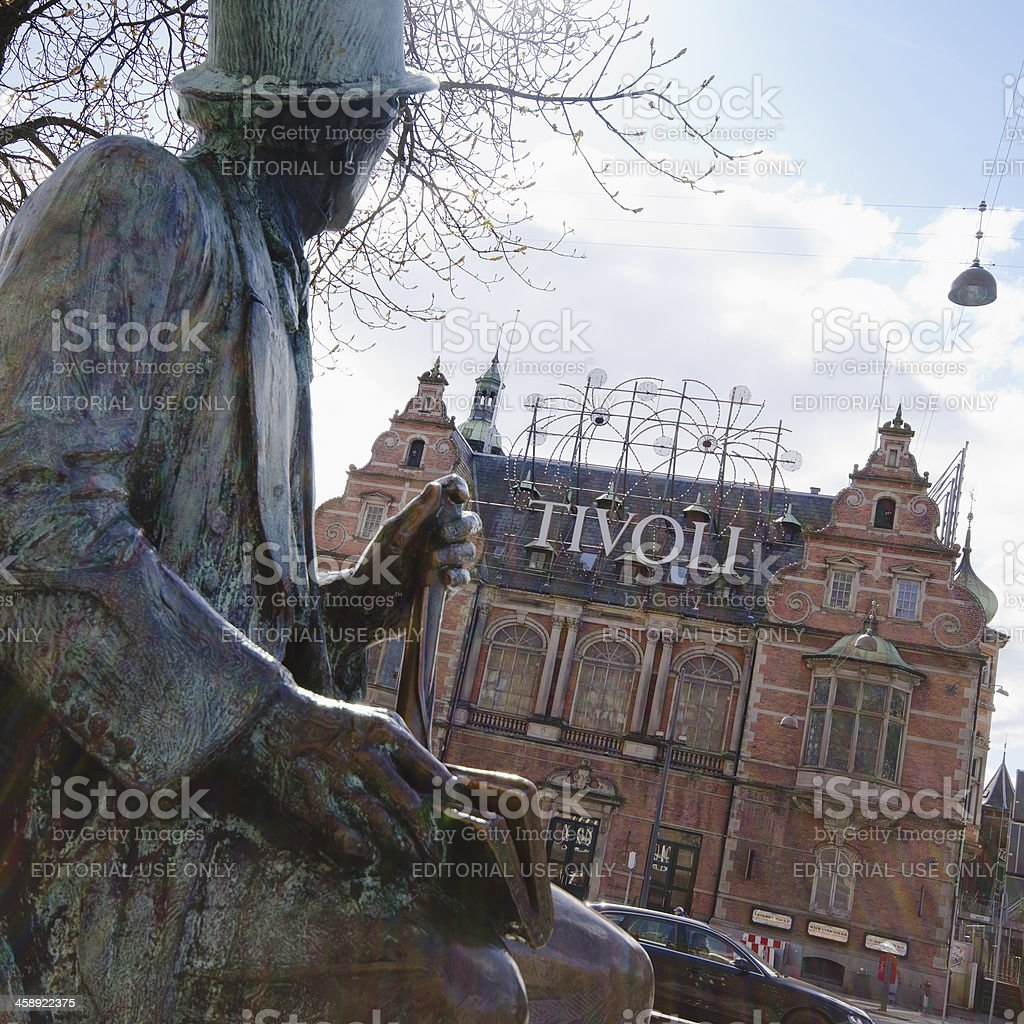 Copenhagen Tivoli entrance of Luna Park - Denmark royalty-free stock photo
