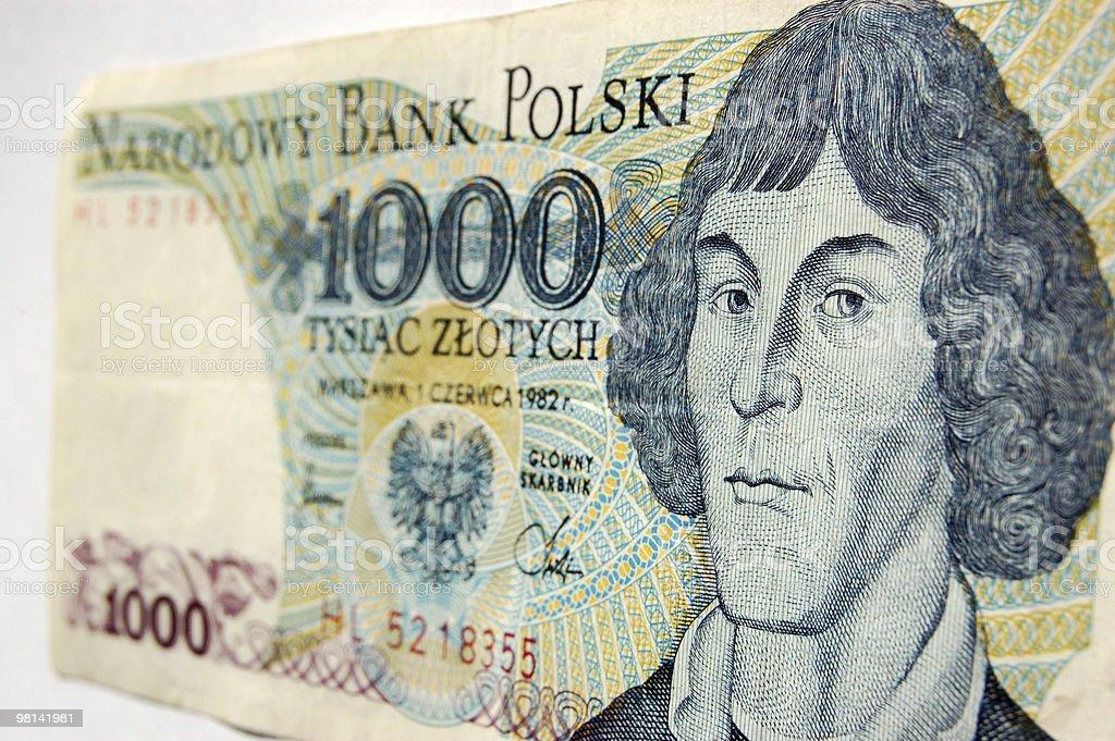 코페르니쿠스 on 지폐 royalty-free 스톡 사진