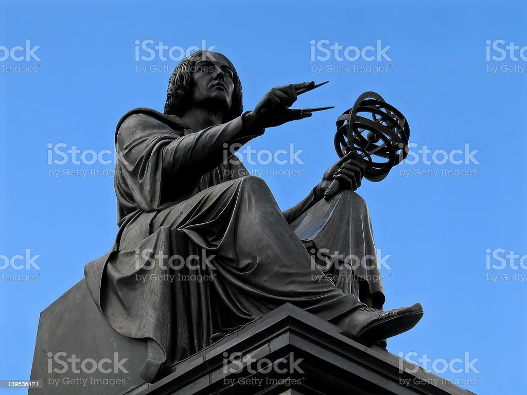 Copernicus statue in Warsaw royalty-free stock photo