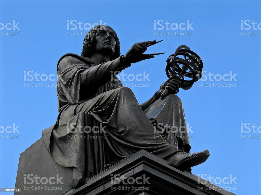 Copernicus statue in Warsaw stock photo