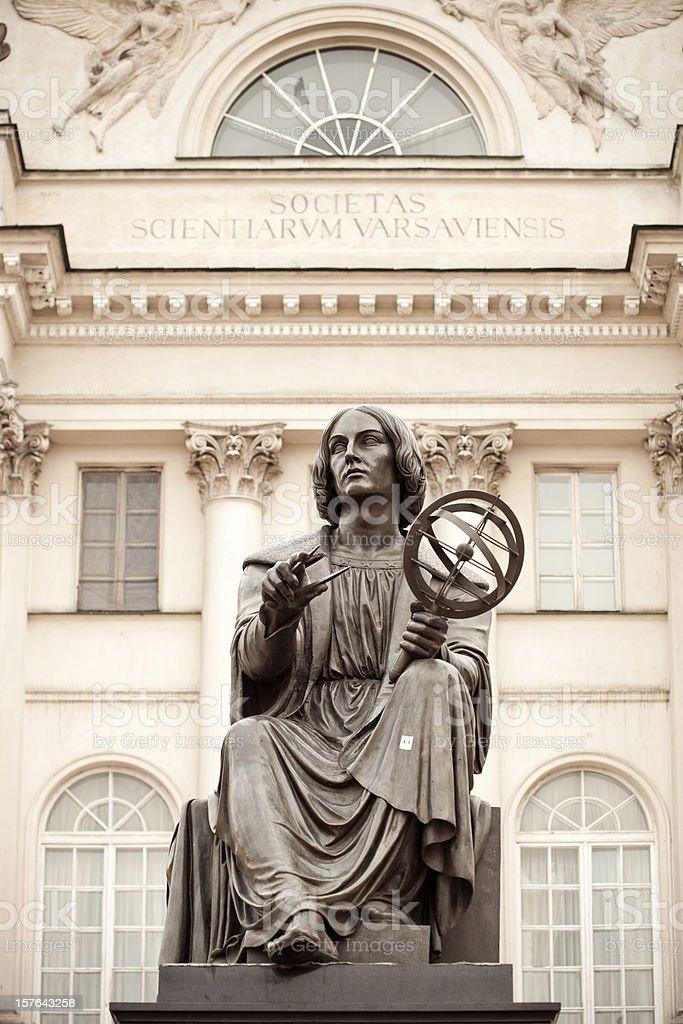 Copernicus Statue In Warsaw, Poland stock photo