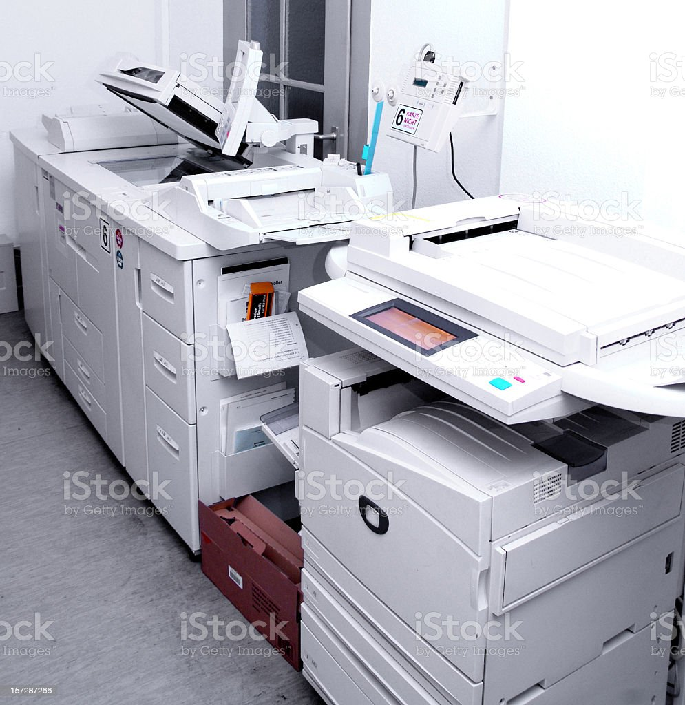 copier - Copyshop stock photo