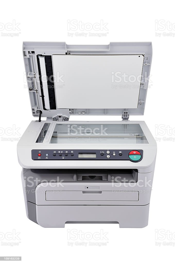 Copier with lid open royalty-free stock photo
