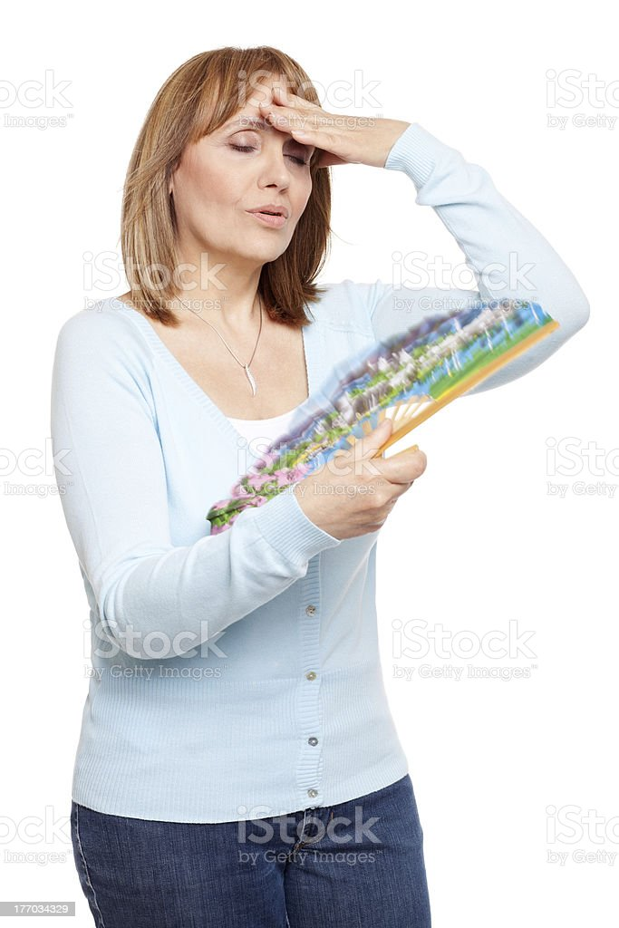 Coping with the menopause royalty-free stock photo