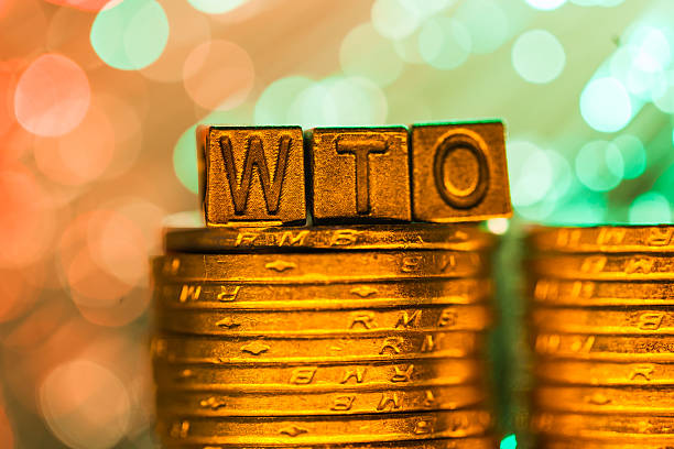 WTO copper alphabet stock photo