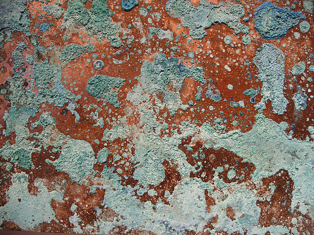 copper & verdigris - patina stockfoto's en -beelden