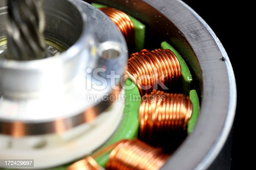 A macro view of an electromagnetic motor