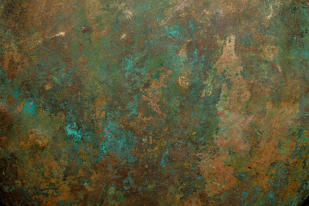 copper background - patina stockfoto's en -beelden