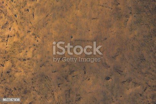 istock Copper background, texture. Metallic bronze vintage background 862282936