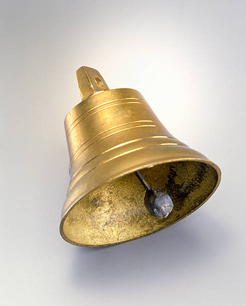 copper bell - bell stock pictures, royalty-free photos & images