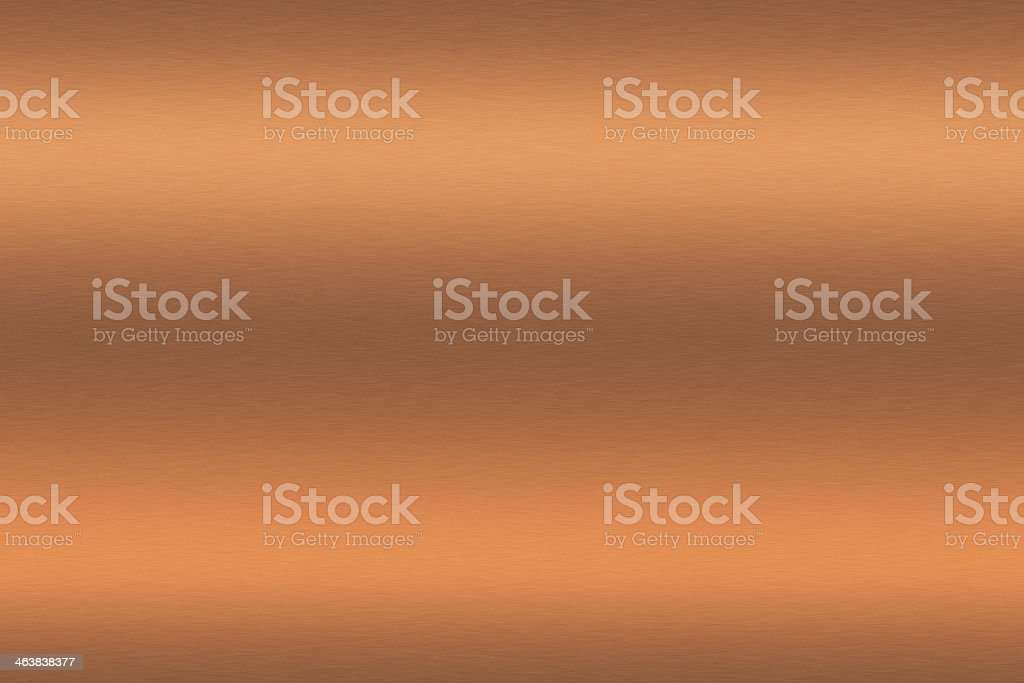 Copper brushed metal as background stock photo