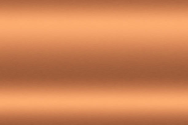 copper brushed metal to be used as background - copper stock photos and pictures