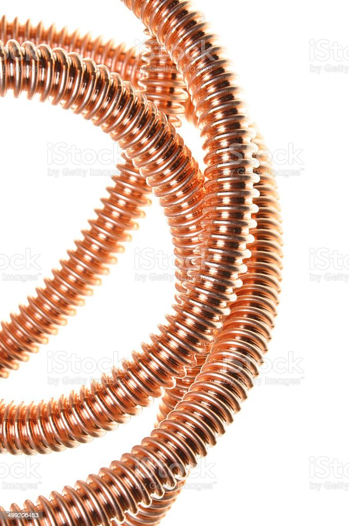 Copper cable stock photo