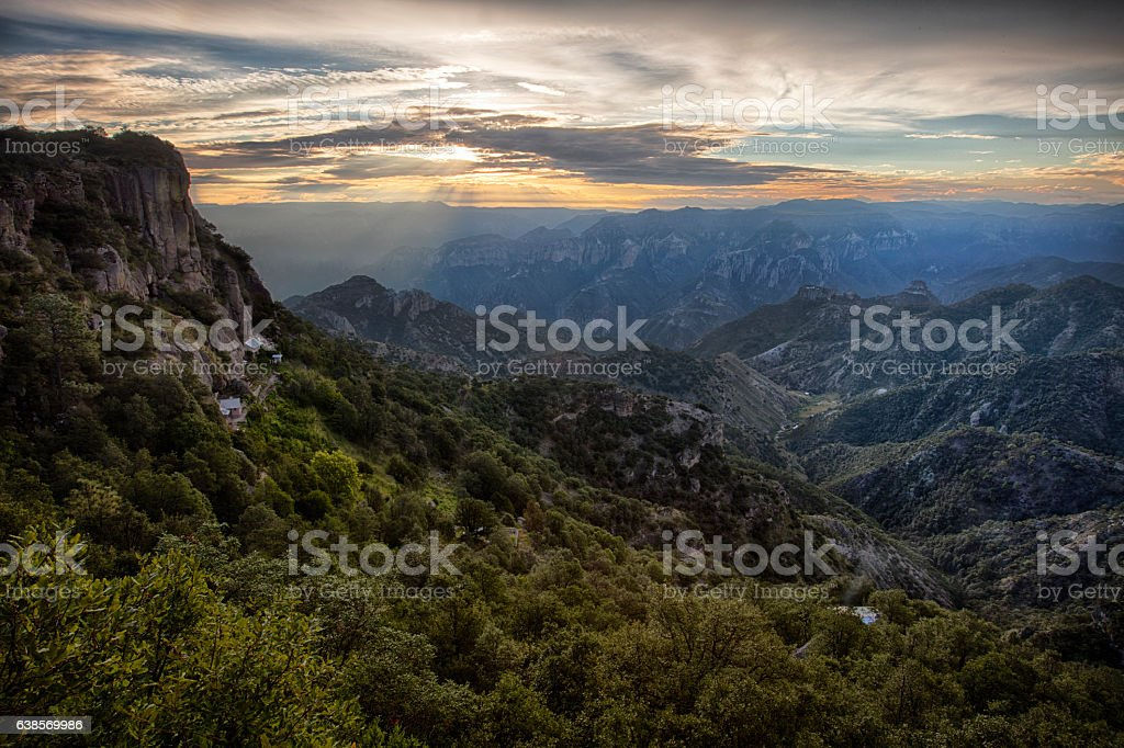 Copper Canyon, Barrancas del cobre, Mexico stock photo