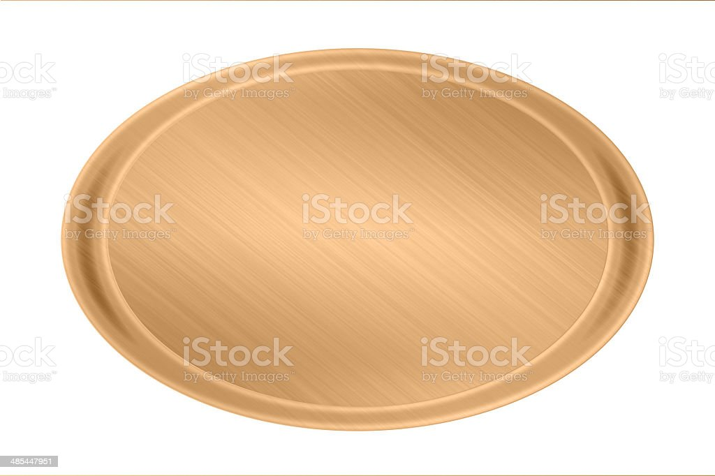 copper circle plate texture stock photo