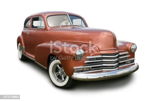 A Chevrolet Stylemaster from the late 1940's.  Clipping path on vehicle.