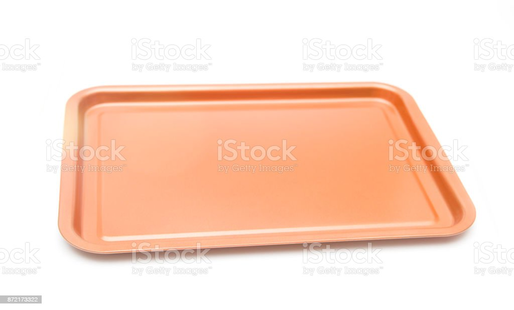 Copper Covered Pan for Nonstick Cooking stock photo