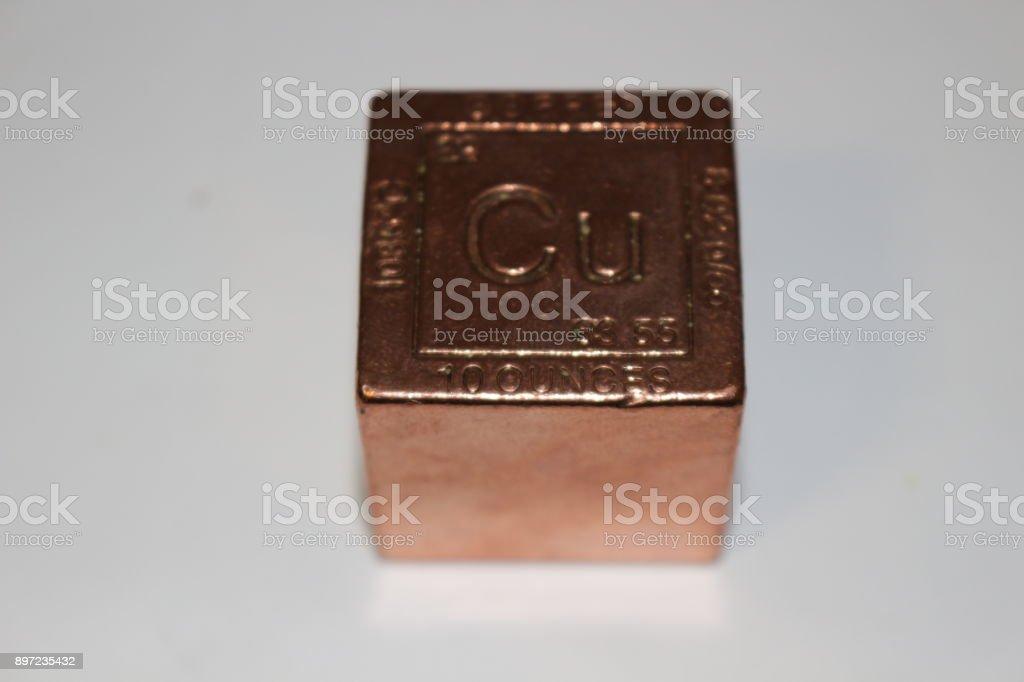 Copper cube stock photo, 100 ounces stock photo
