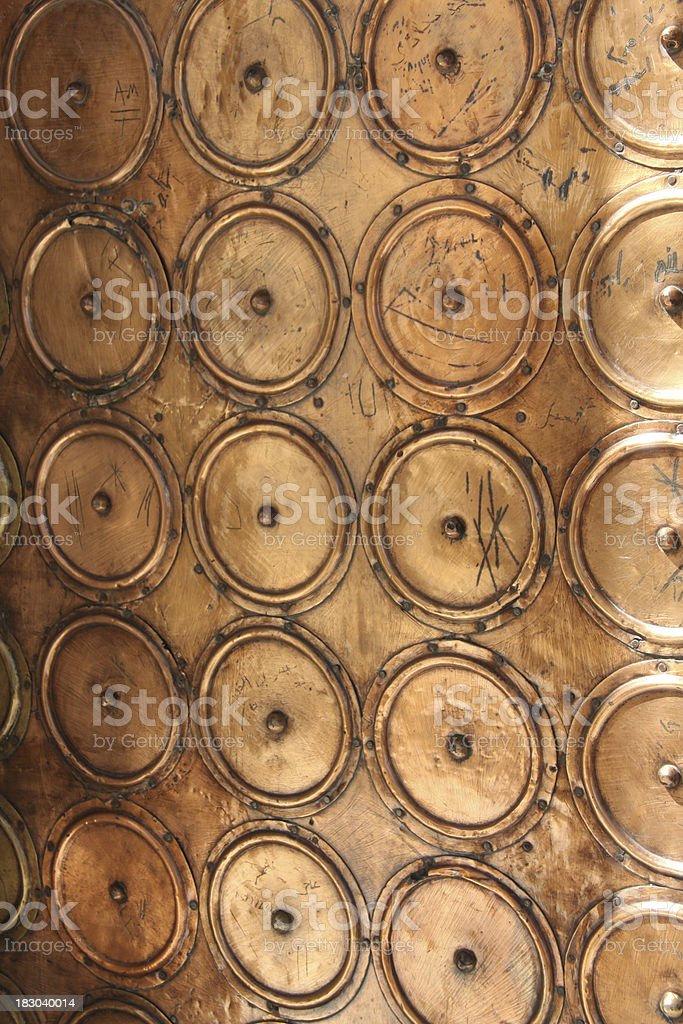 Copper Door---  Dome of the Rock royalty-free stock photo