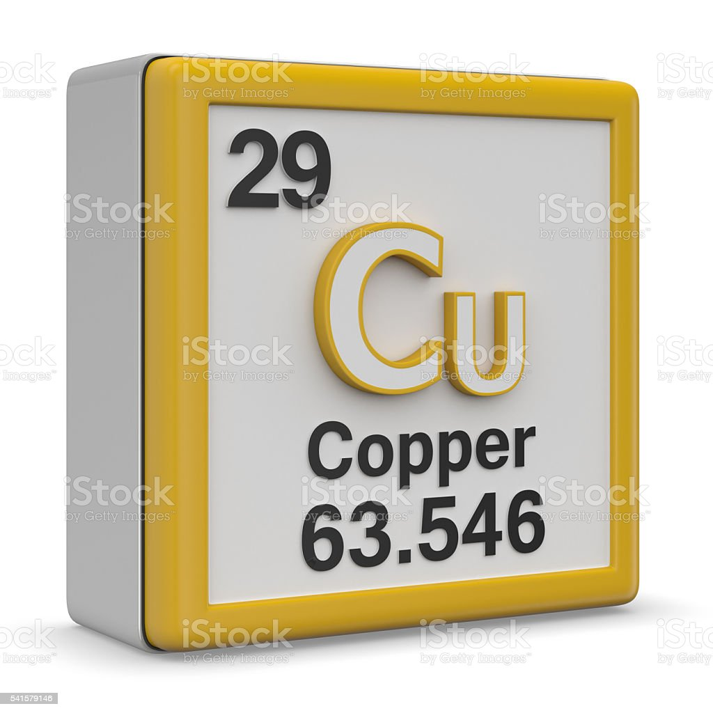 Copper element stock photo