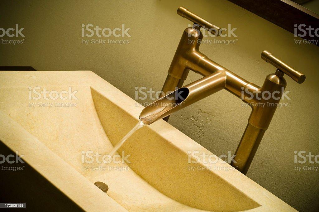 Copper Faucet stock photo