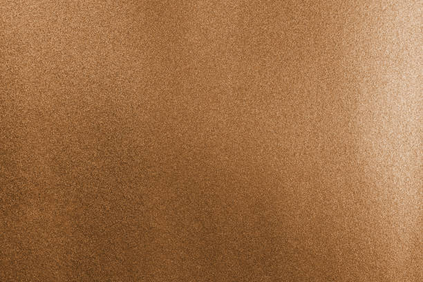Copper foil shiny wrapping paper texture background for wall paper decoration element stock photo