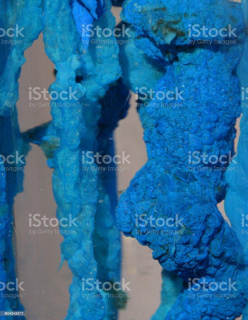 Copper Hydroxide precipitate stock photo