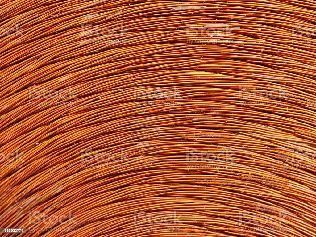 copper inductor metal stock photo