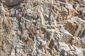 銅いてる岩の山、瓦礫の残滓は、フィールドの浅い深さで閉じます。