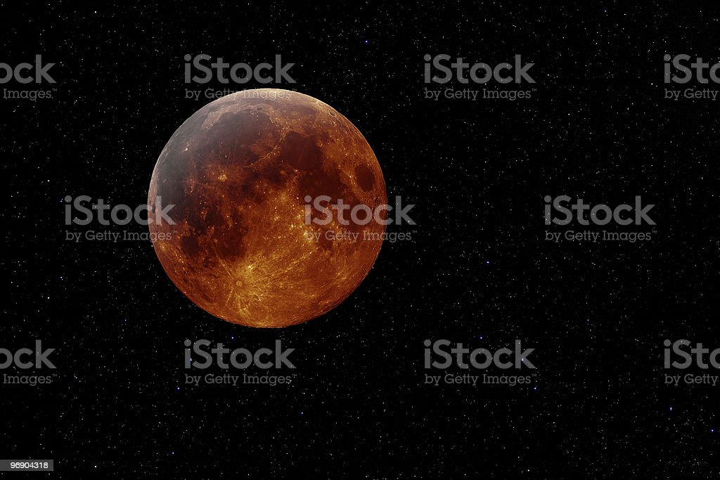 copper moon royalty-free stock photo