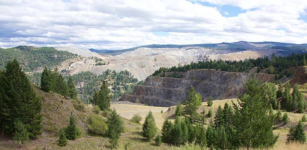 Copper Mountain mine stock photo