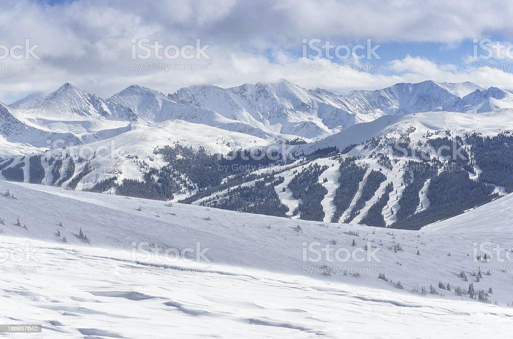 Copper Mountain Ski Runs stock photo