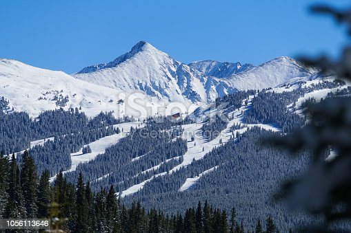 Copper Mountain with views of Pacific Peak - Winter mountain landscape views of ski runs and beautiful mountain backdrop.