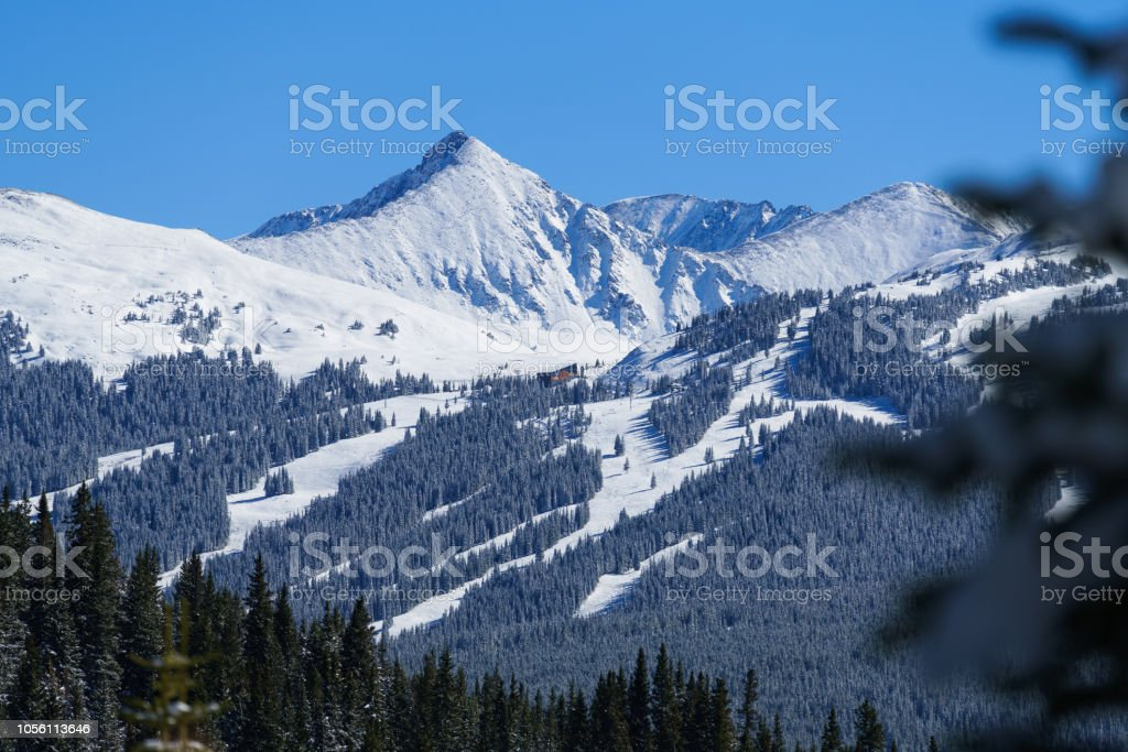 Copper Mountain with views of Pacific Peak stock photo
