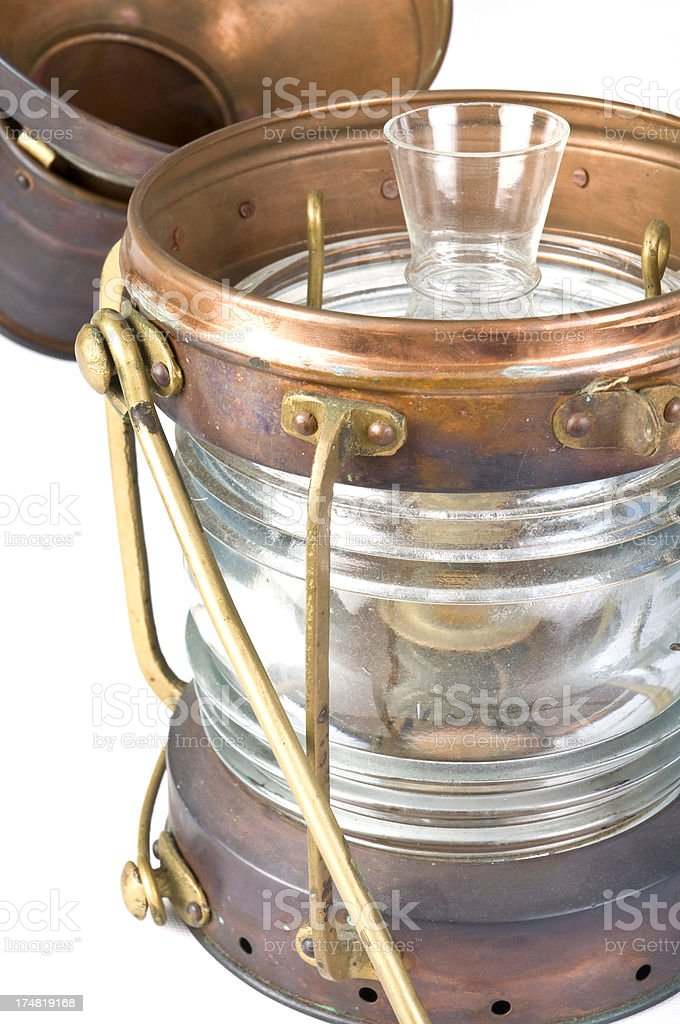 Copper or Brass maritime Boat Lantern royalty-free stock photo