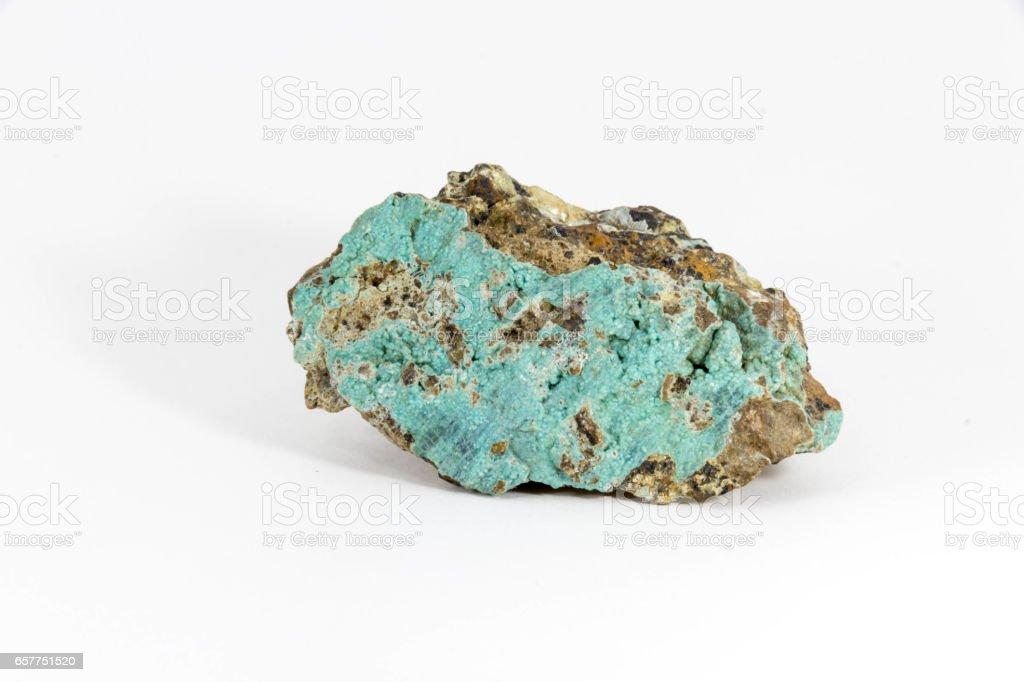 copper ore on white background stock photo