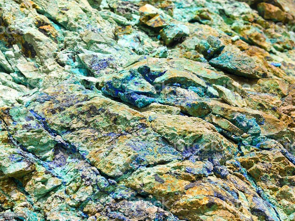 copper ore stock photo
