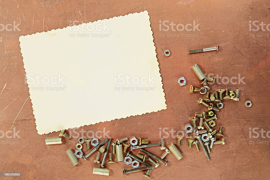 Copper page royalty-free stock photo