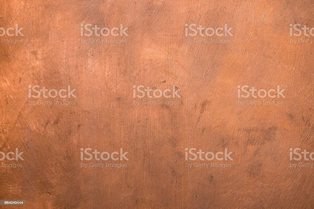 Copper painted surface. stock photo