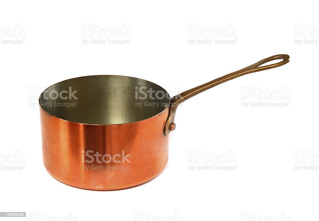 Copper pan stock photo